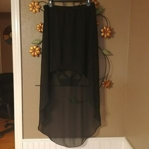 BOGO HALF! EXPRESS Black high/low skirt (nwot)